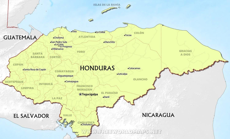 Honduras Map Mapa Honduras Pinterest Honduras
