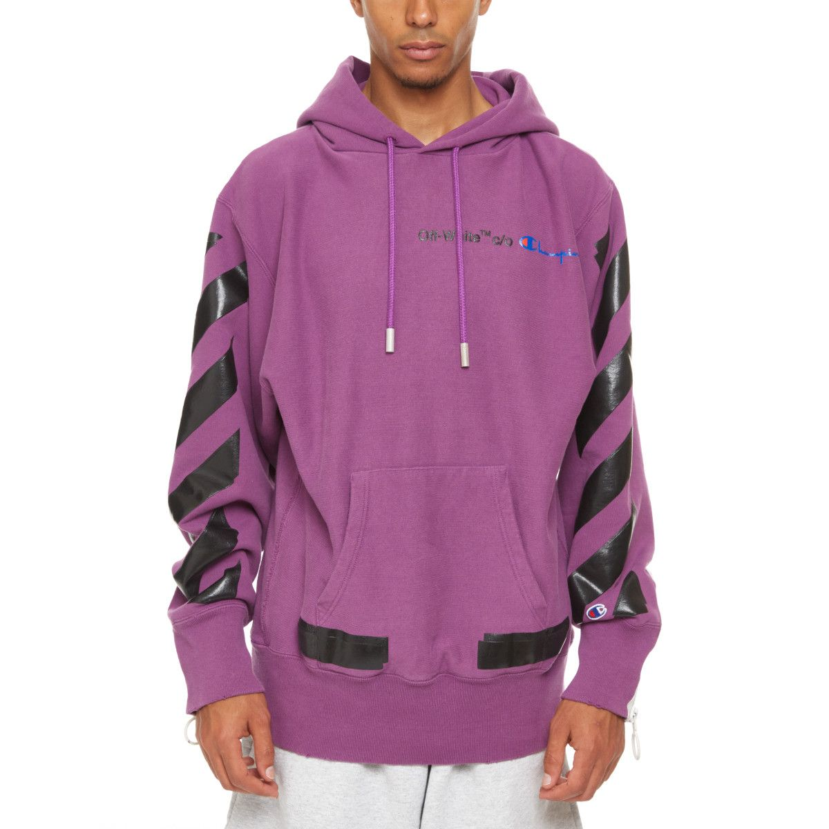 Champion Hoodie From The S S2018 Off White C O Virgil Abloh Collection In Violet White Champion Hoodie Champion Hoodie Hoodies