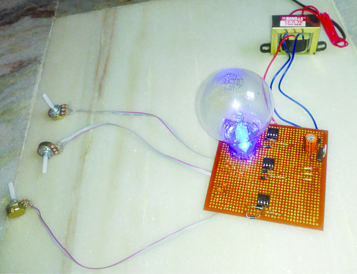 Rgb Bulb Using 555 Timer Great Gifts Pinterest Bulbs And Circuit The Main Objective Of This Is To Produce Different Light Colours With Help Ne555 Ic