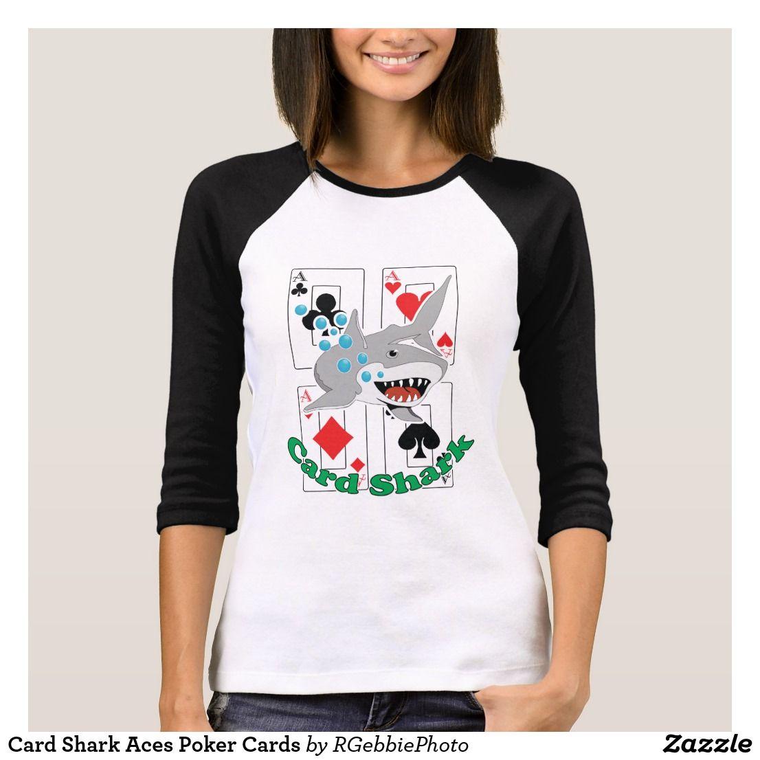 Card shark aces poker cards tshirt tshirt