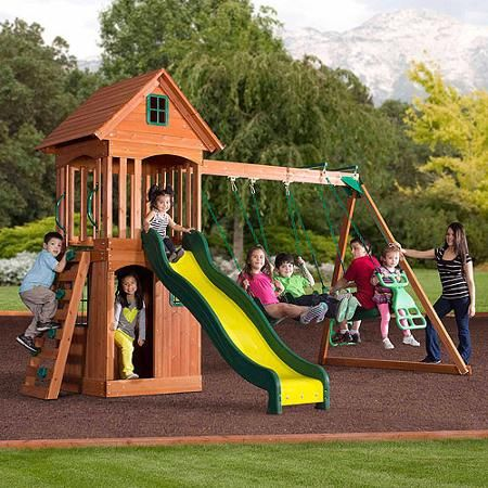 Backyard Discovery Springwood Wooden Swing Set Go