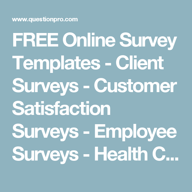 free online survey templates client surveys customer