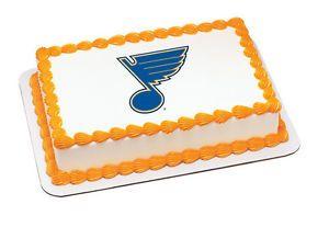 Marvelous Hockey Themed Birthday Cake St Louis Nhl St Louis Blues Logo Personalised Birthday Cards Arneslily Jamesorg