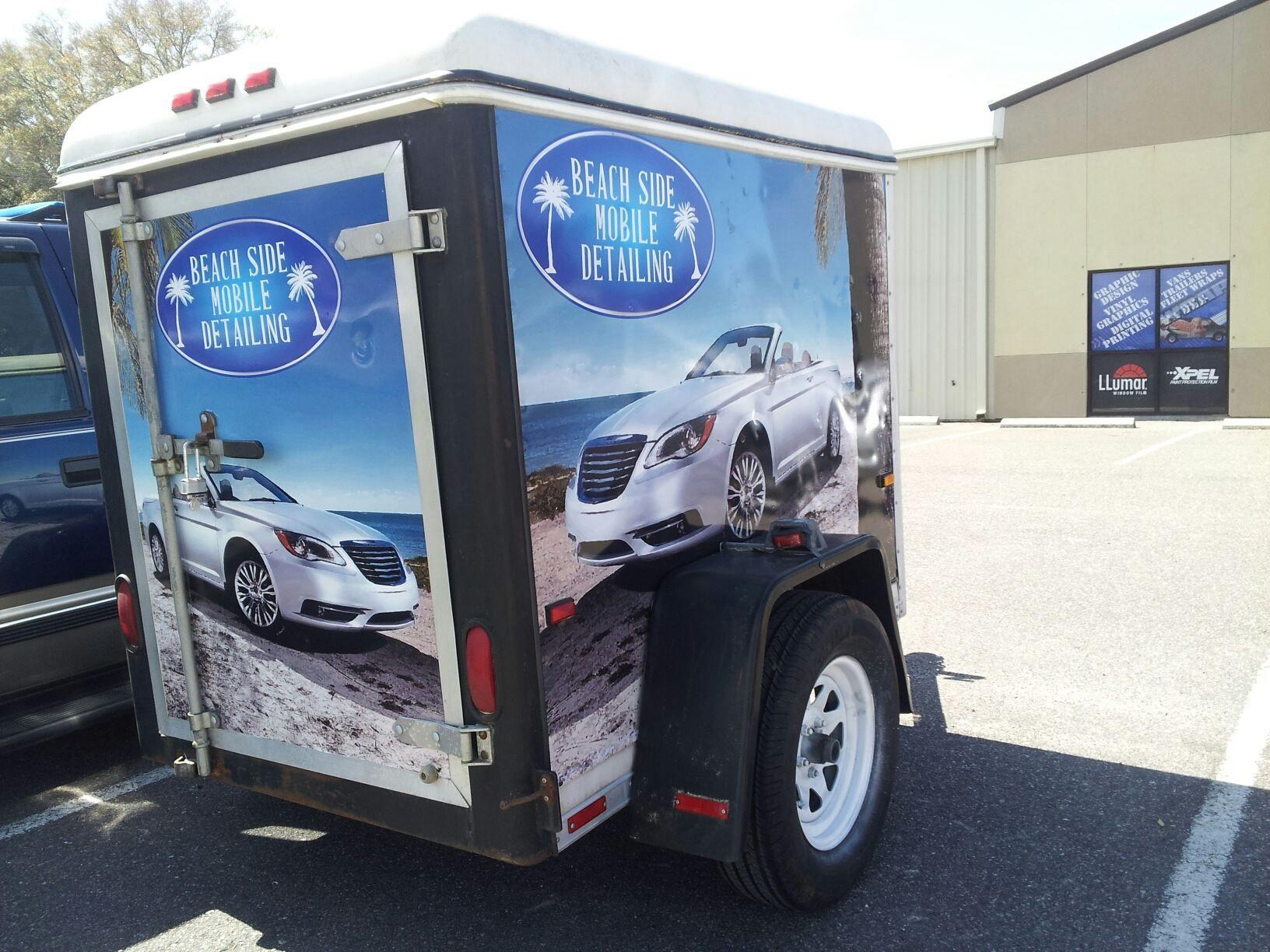 Beach Side Mobile Detailing trailer wrap Recreational