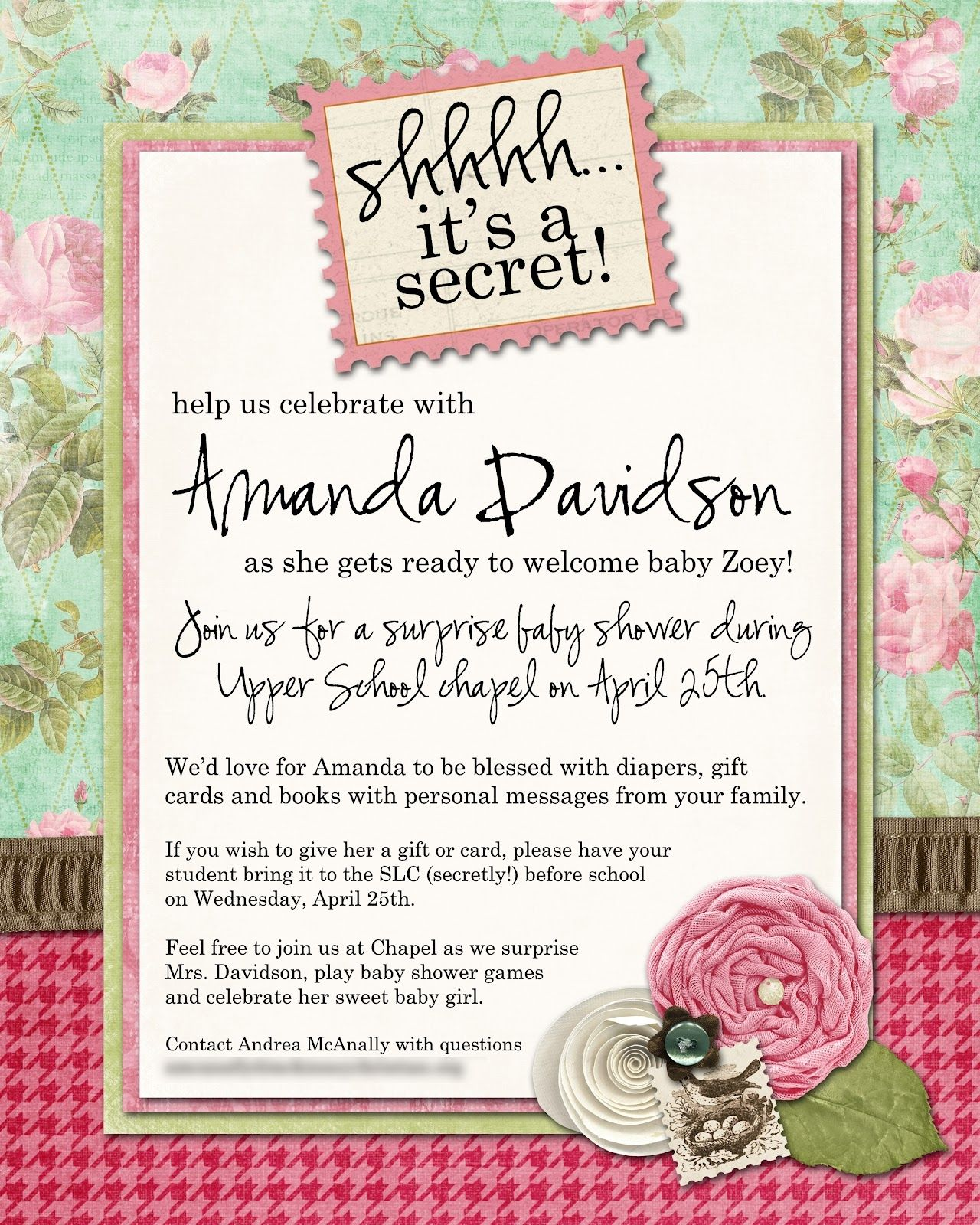 Surprise Baby Shower Party Invitation Wording   http://atwebry.info ...