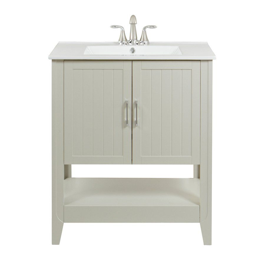 Oh this is also pretty simple magick woods 30 in gray - Lowes single sink bathroom vanity ...