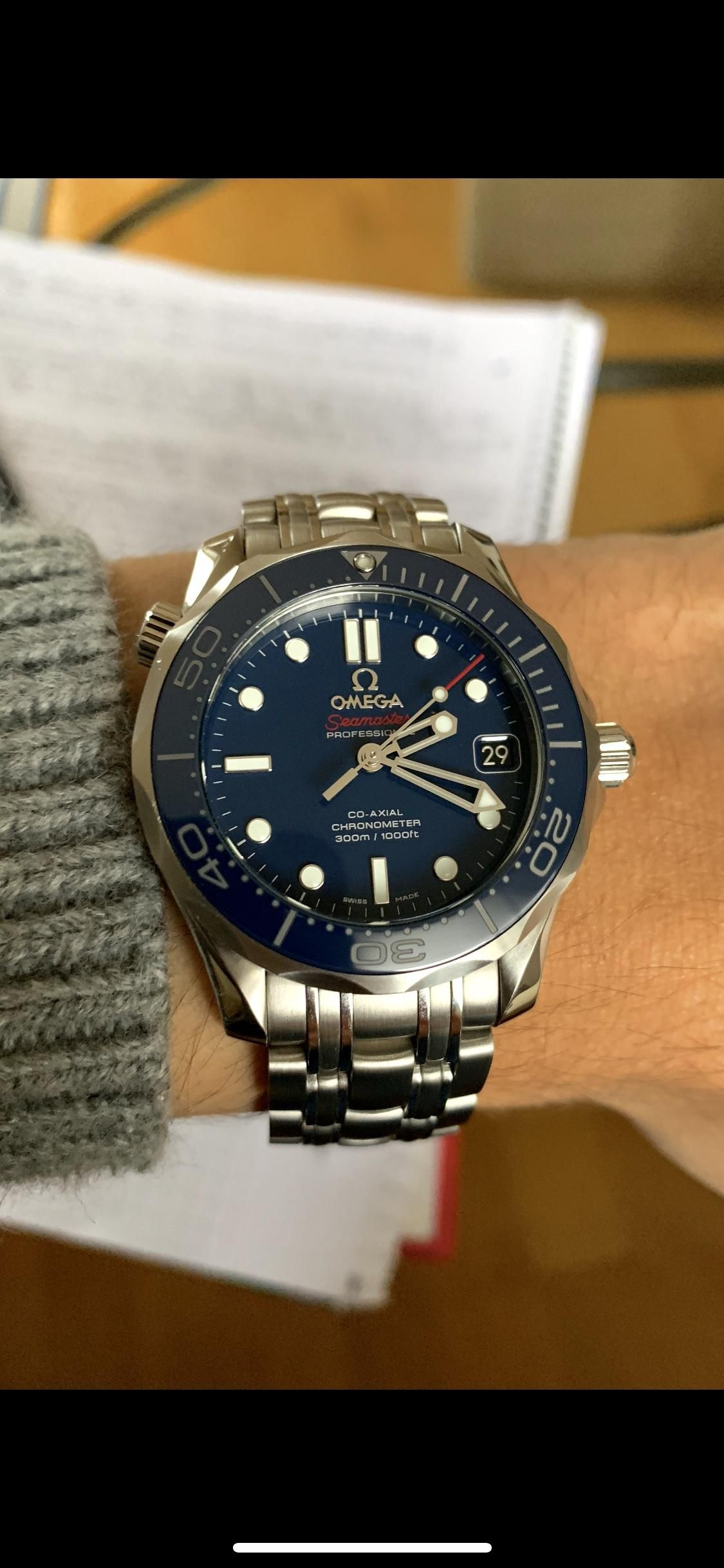 Omega  Seamaster Diver 300 (36.25mm) perfect for my tiny wrist ... fd09bfc9ab