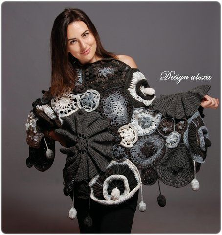 "Design aloxa - the soul like a butterfly ... - Shawl ""Medallions"" Nicky Epstein"