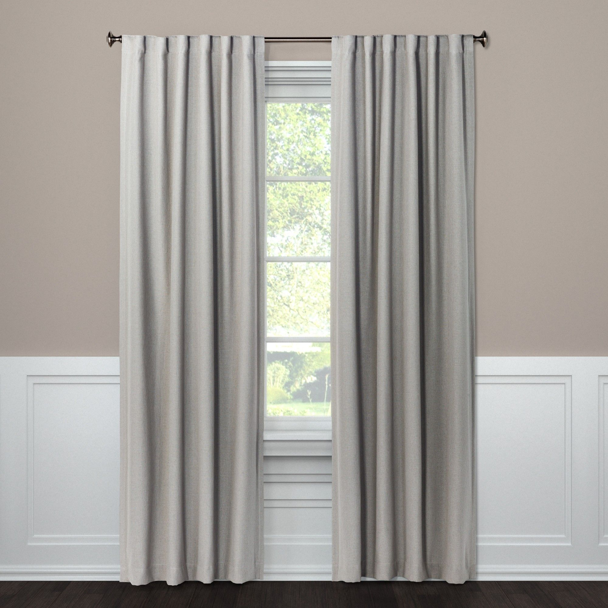 50 X108 Aruba Linen Blackout Curtain Panel Gray Stone Threshold