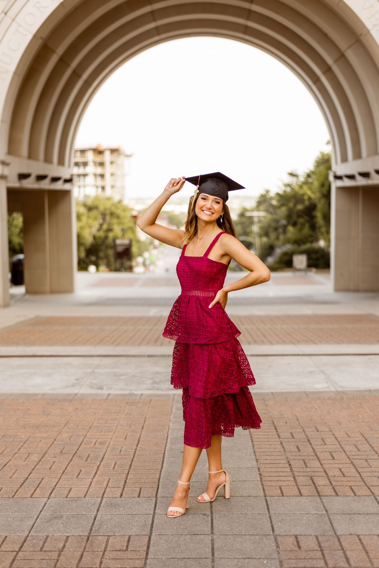 Senior photos by Simply Breezy Photography #graduationdresscollege