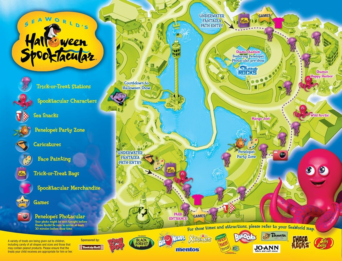 Your map to all the sea of treats at SeaWorld Orlandos Halloween