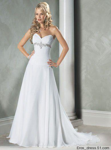 Wholesale Heart Shaped Collar Custom Wedding Gown Evening Dress