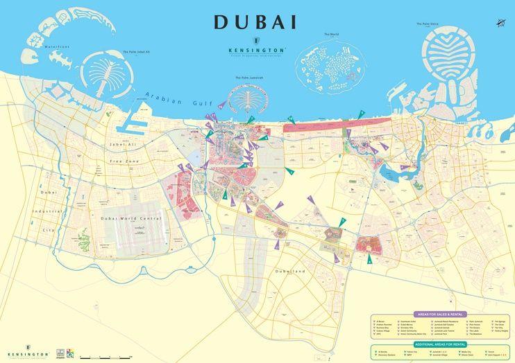 Dubai City Map Dubai En 2019 Dubai Et Destinations