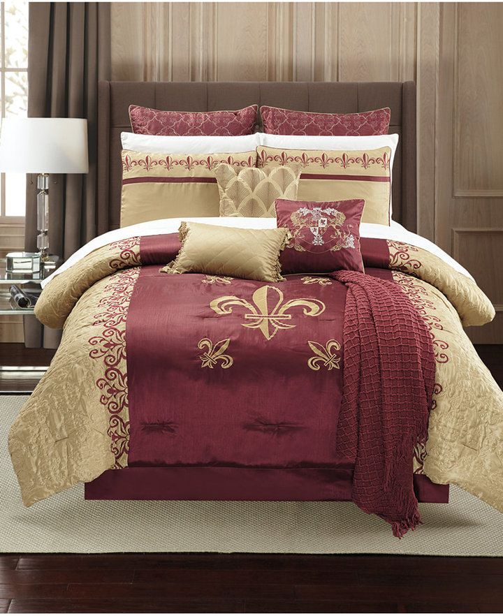 Hallmart Collectibles Closeout Bossier 14 Pc Queen Comforter Set