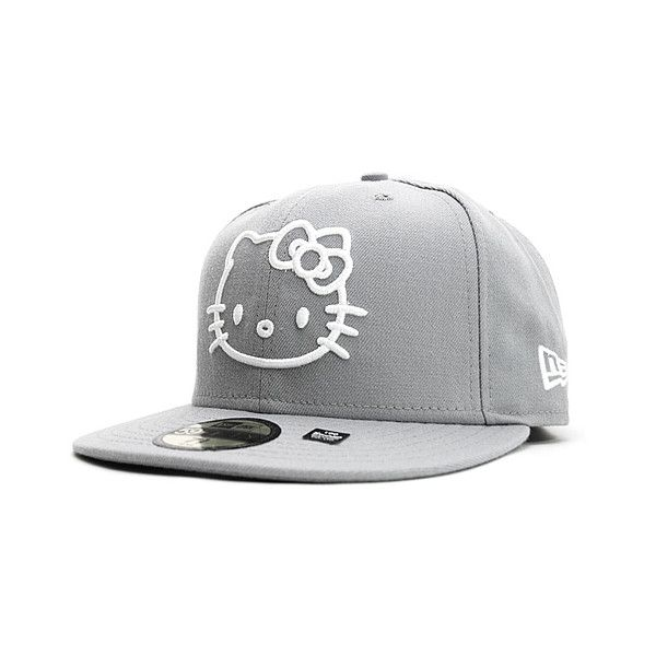 7c5fe8f22e1 SANRIO x NEW ERA 「HELLO KITTY II」59Fifty Caps ❤ liked on Polyvore featuring  accessories