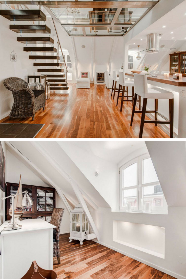 An inspirational interior and architectural design a stunning glass apartment in the attic there is a glass duplex of exceptional design that will delight