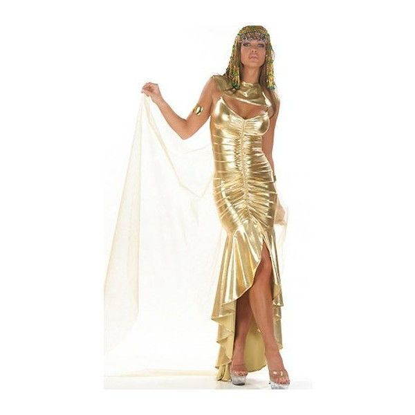 Golden Cleo Hero Egyptian Queen Sexy Costume ? liked on Polyvore featuring costumes egypt princess halloween costumes egyptian goddess costume ...  sc 1 st  Pinterest & Golden Cleo Hero Egyptian Queen Sexy Costume ? liked on Polyvore ...
