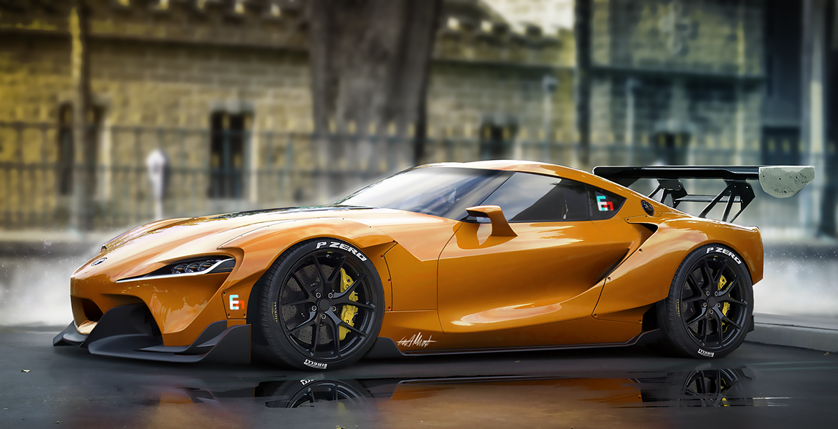 Toyota FT1 Wide Body Kit on Behance | cars | Toyota cars