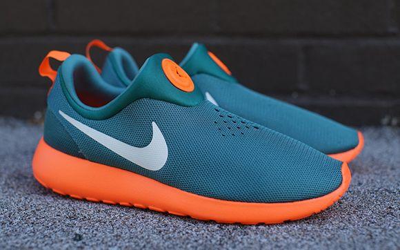 new style 5c897 d336b Miami Dolphins Nike Roshe Run Slip-On