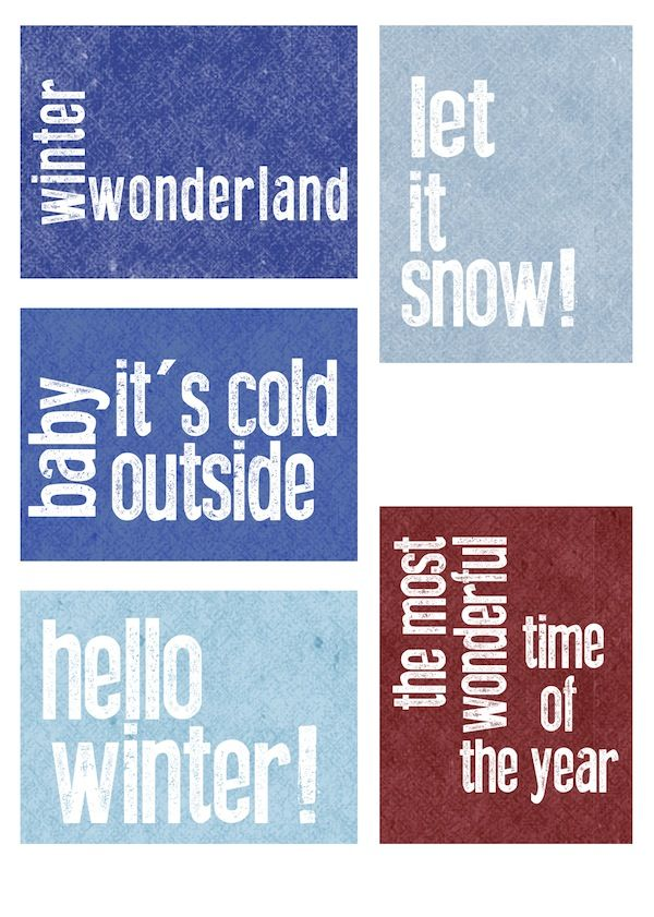 Completing the set – Hello Winter! PL printables