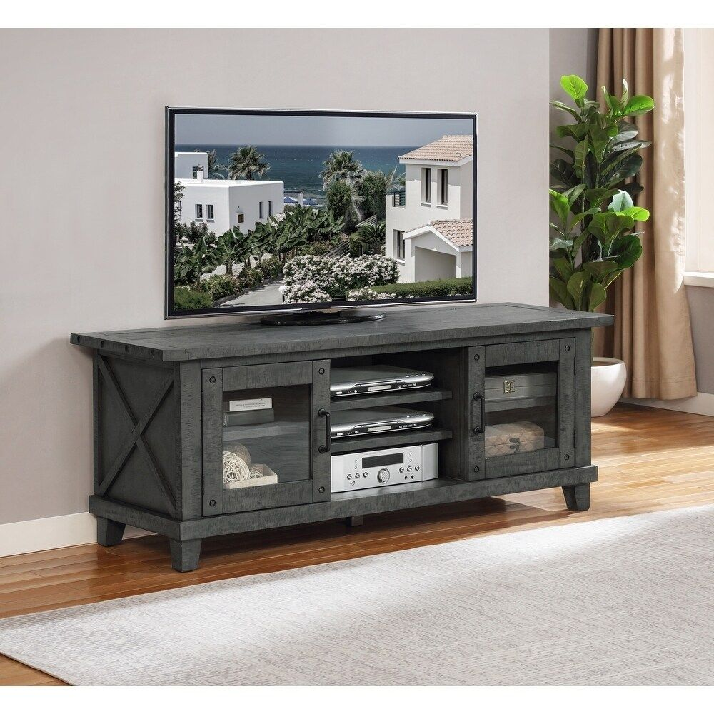 Best Quality Furniture Grey Rustic Tv Stand Grey 4 Over 60