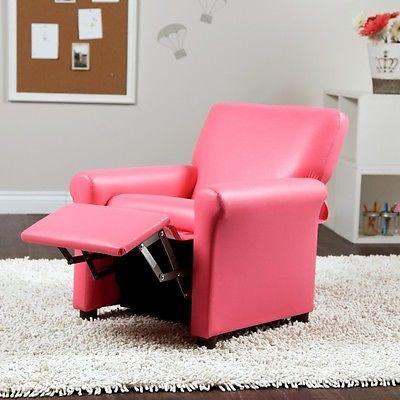 Kids Recliner Chair Childrens Child Girls Reclining Relax Toddler