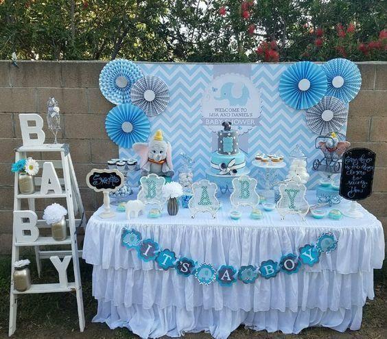 Ideas Para Baby Shower Con Elefantes Tarjetas Imprimib Decoraciones De Fiestas Para Bebes Decoraciones De Baby Shower Para Ninos Temas De Baby Shower De Nino