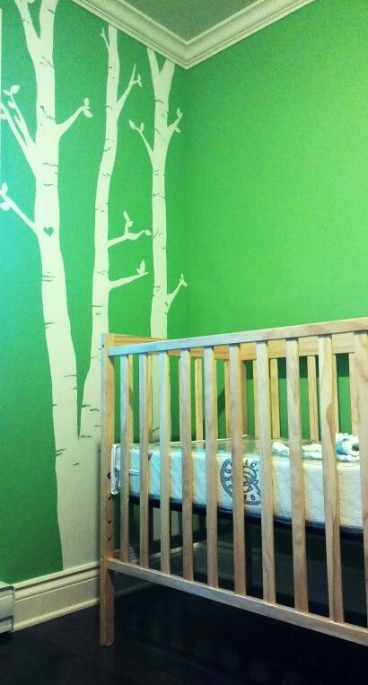 Green nursery. - - Hand made white tree's for pépin (Henri) ❤