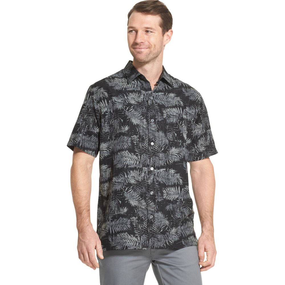 53c67494 Men's Van Heusen Air Non-Iron Printed Button-Down Shirt, Size: Large ...