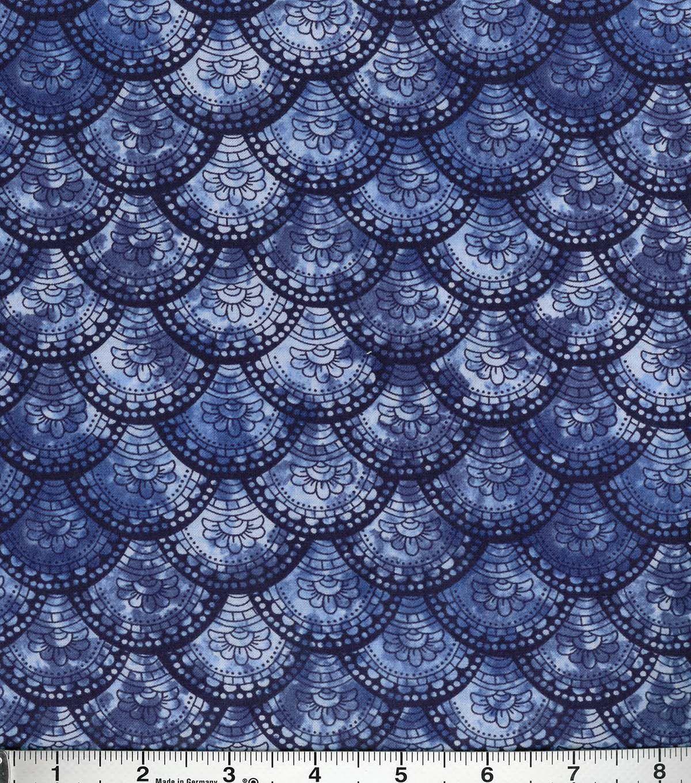 Buttercream™ Poppy Collection Cotton Fabric-Floral Fan Navy ... : joann quilting fabric - Adamdwight.com