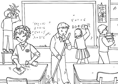 Help Tidy Up Colouring Page School Coloring Pages Coloring Pages Colouring Pages