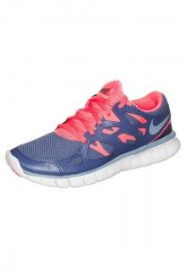big sale 487b2 3532c Femme Nike Free Run 2 Chaussures de fitness bleu pourpre rose blanc en  solde France