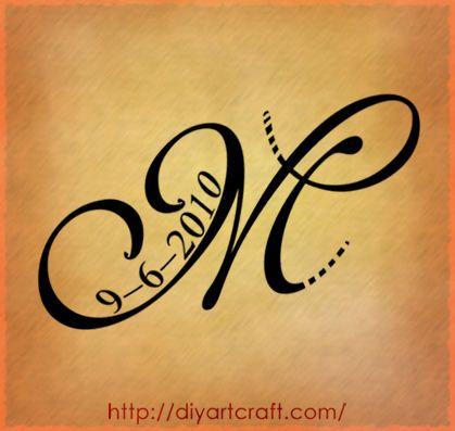 Letter M Tattoo Lettera Stilizzata Maiuscola M Tattoo Versione 2