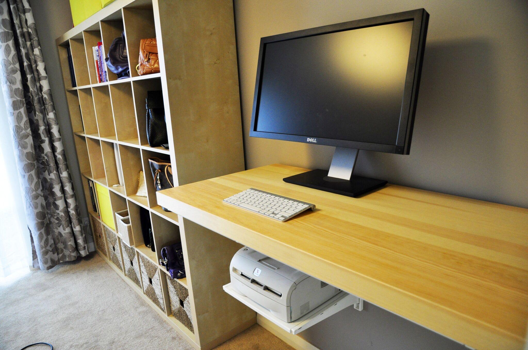 Floating Desk Diy Standing Desk Using Ikea Tornliden Desktop And Algot Storage System Room Layout Livingroom Layout Home Living Room