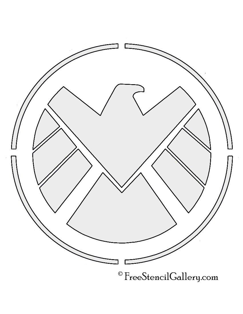 22 Modern Batman Ausmalbilder Zum Drucken Porträt: SHIELD Logo Stencil