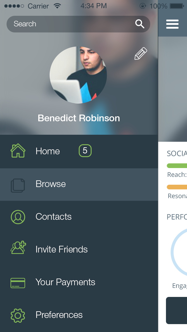 Event Tracking App … Design de interface, Aplicativos