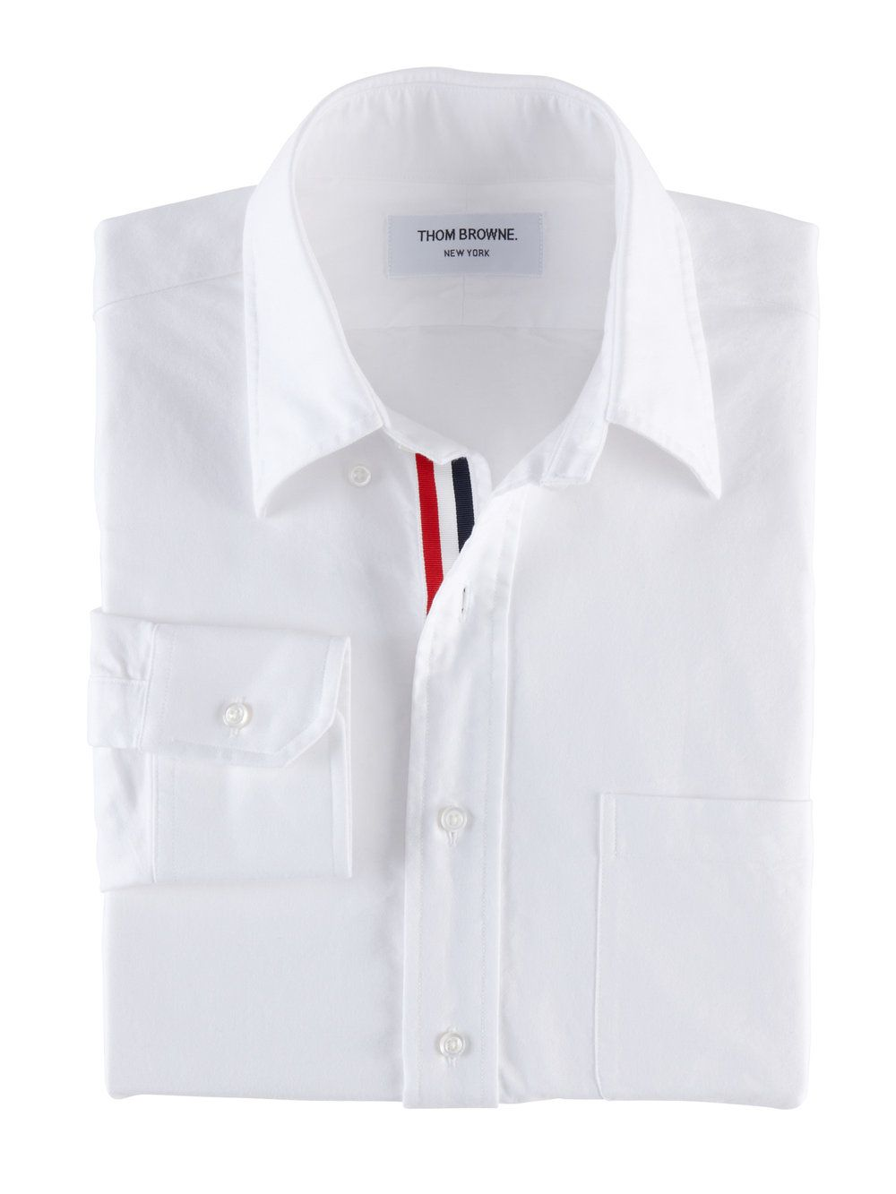 Buy Cheap Classic grosgrain placket shirt dress - White Thom Browne Super Specials Great Deals Cheap Price Cheap Price Free Shipping Buy Cheap Genuine Lne06eQra0