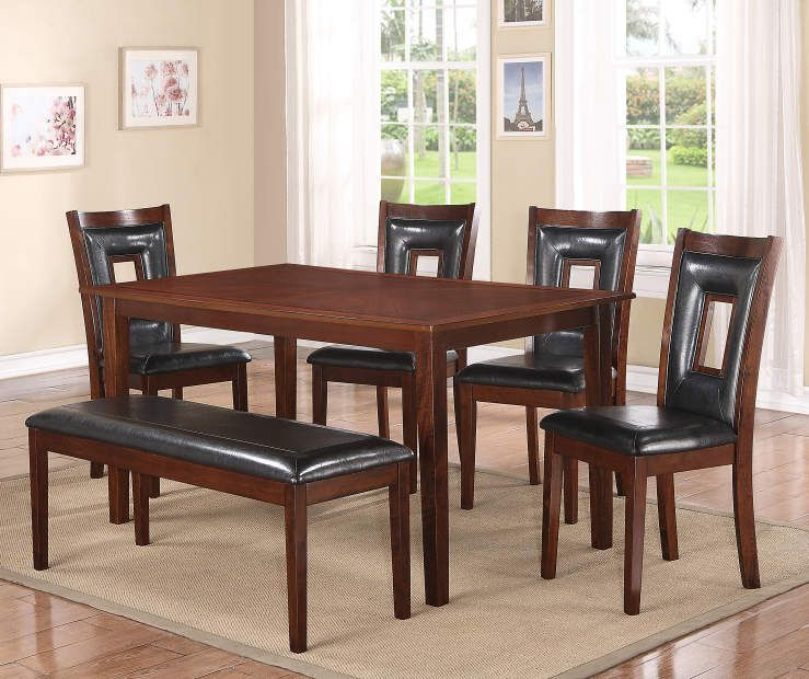 6 Piece Padded Dining Set With Bench At Big Lots 400 Staging