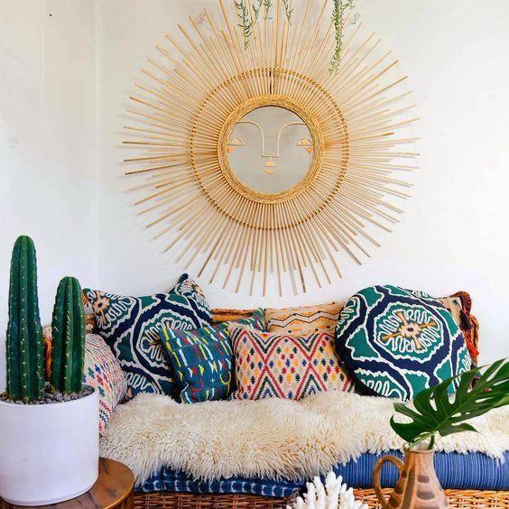 Ritual Round Pillow by Justina Blakeney® X Loloi