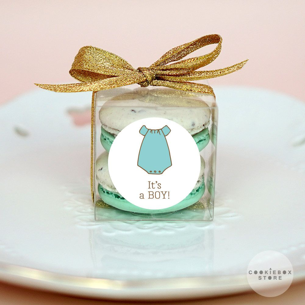 10 Sets of baby shower clear macaron packaging, macaron box, baby ...
