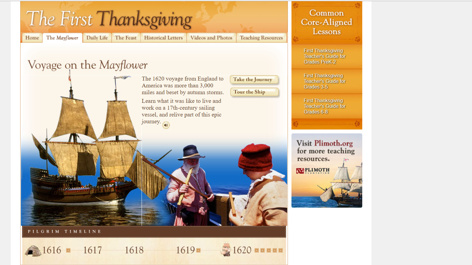 """Publisher Scholastic """"The First Thanksgiving Virtual"""