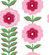 Jennifer Paganelli Quilt Fabric- Vertical Floral