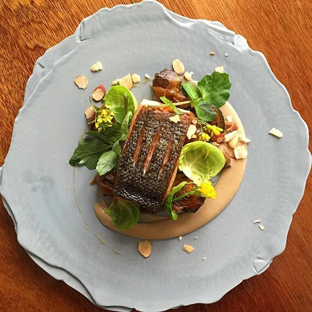 New Zealand King Salmon Jerusalem Artichoke Onion Marmalade Almonds Philskitchen Nz Essen Essen Geniessen