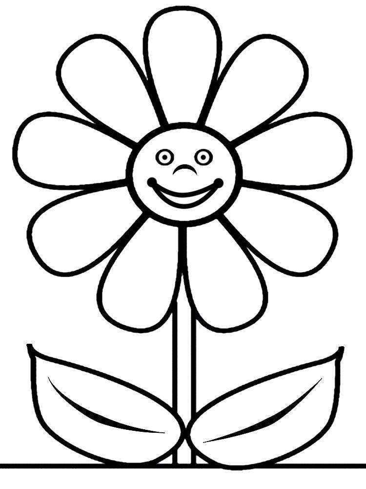 Flores - descargar gratis dibujos para colorear | campaña | Pinterest