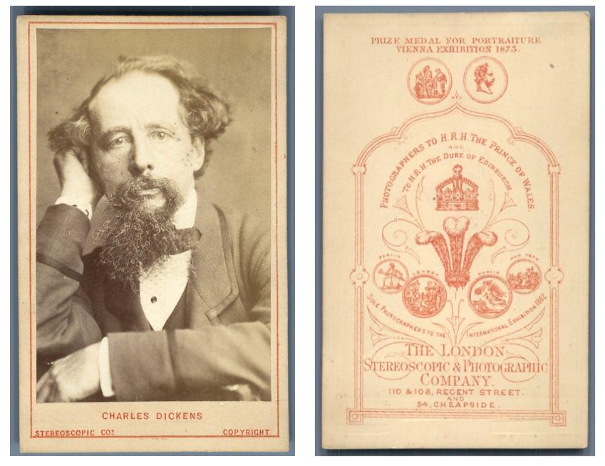 Portrait du romancier Charles Dickens    #CDV #portraits #Hommes_et_Femmes_de_lettre