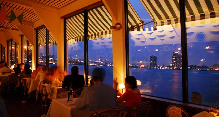 Great Food And Nice View Of The East River In Nyc Place For A Date But Make Sure You Bring Credit Card With High Balance