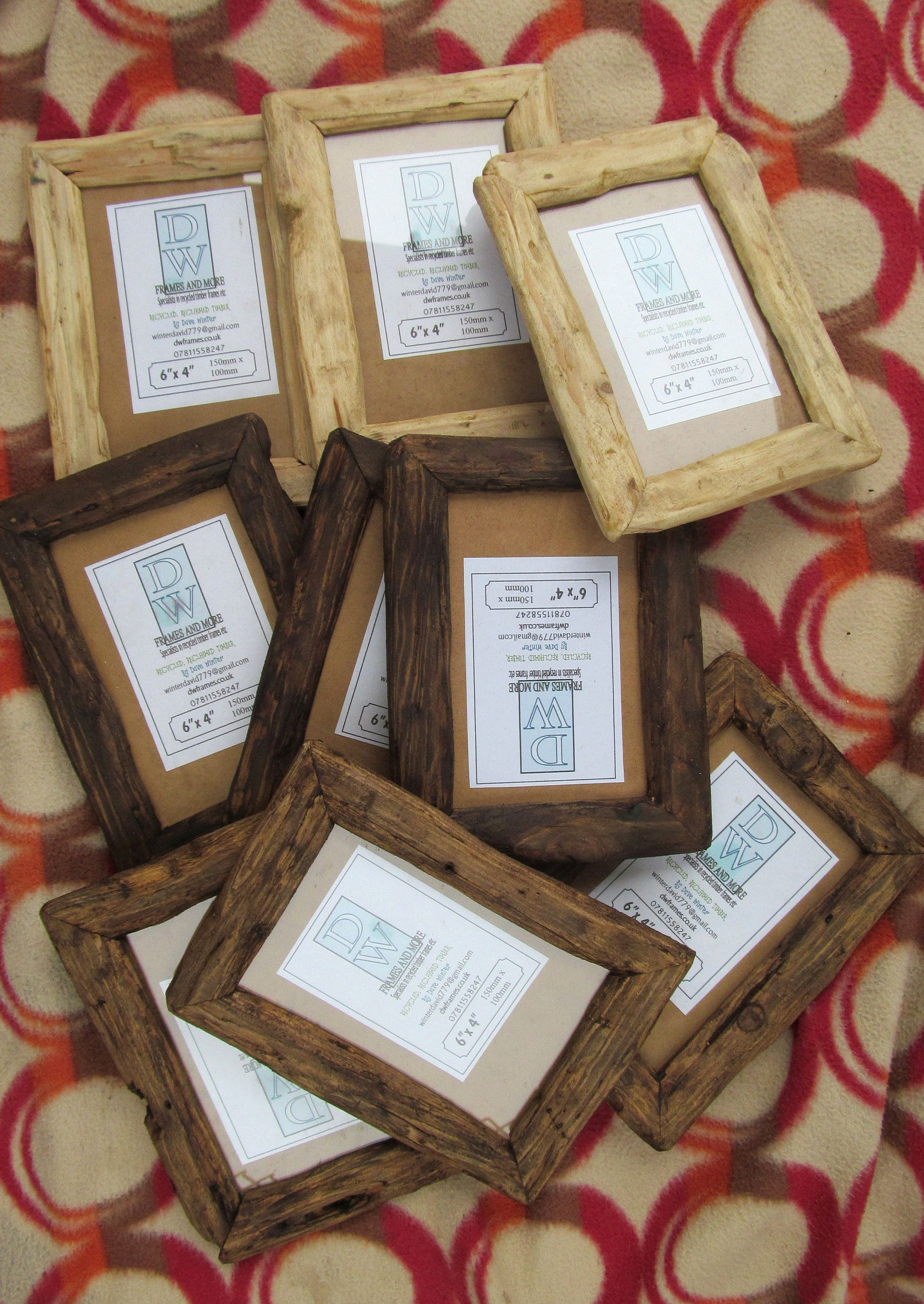 Rusticdriftwood Style Frames In Recycled Pine In Clear Beeswax, Medium