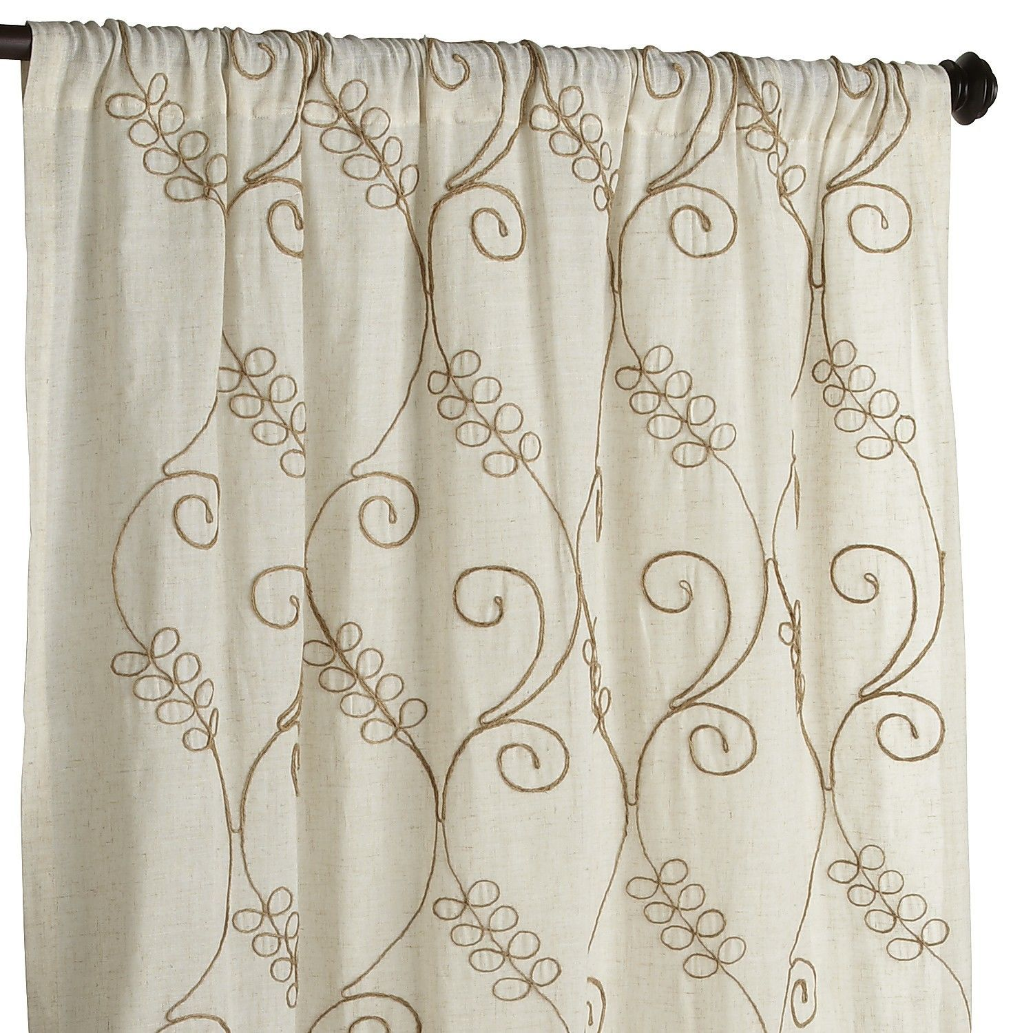 Embroidered Jute Curtain Curtains Drapes Curtains Curtain Patterns