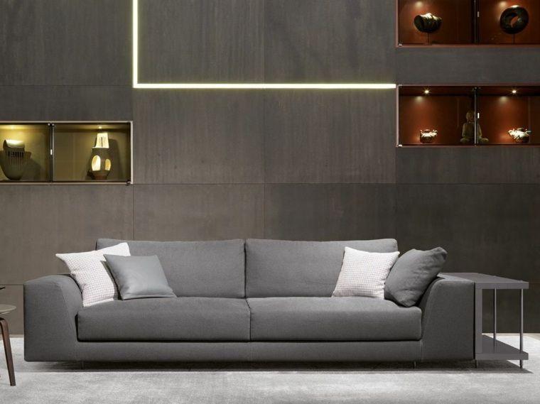 dco moderne ides pour un salon avec canap gris dco moderne de salon avec petit canap gris et blanc