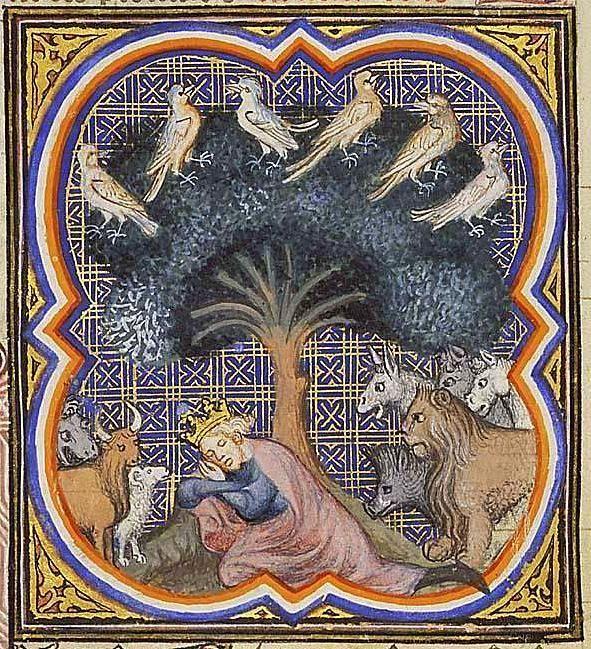 Il sogno di Nabucodonosor - Grande Bibbia Istoriata (Parigi, 1371-1372),  Koninklijke Bibliotheek